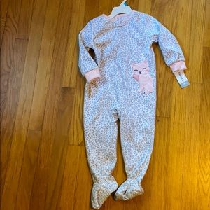 Girls fleece footie pajamas